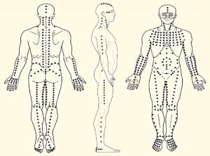 Bij de shiatsu massage
